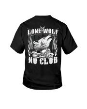 Lone Wolf No Club Motorcycle Youth T-Shirt thumbnail