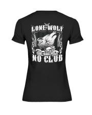 Lone Wolf No Club Motorcycle Premium Fit Ladies Tee thumbnail