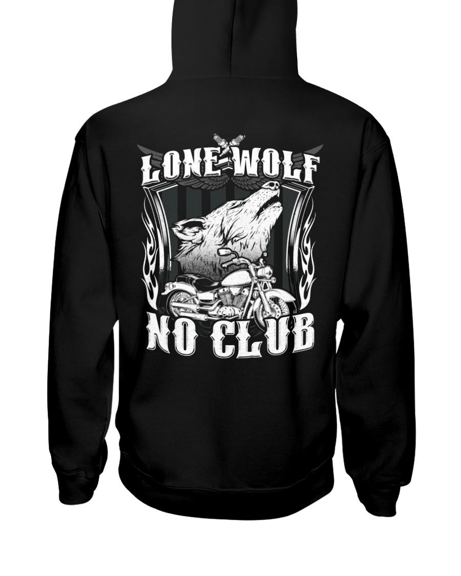 Lone Wolf No Club Motorcycle Hooded Sweatshirt