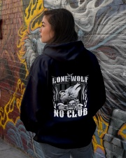 Lone Wolf No Club Motorcycle Hooded Sweatshirt lifestyle-unisex-hoodie-back-1