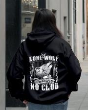 Lone Wolf No Club Motorcycle Hooded Sweatshirt lifestyle-unisex-hoodie-back-2
