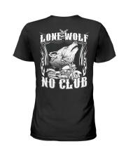 Lone Wolf No Club Motorcycle Ladies T-Shirt thumbnail