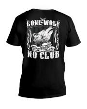 Lone Wolf No Club Motorcycle V-Neck T-Shirt thumbnail
