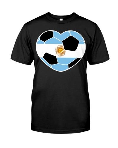 Argentina Soccer Ball Heart Jersey