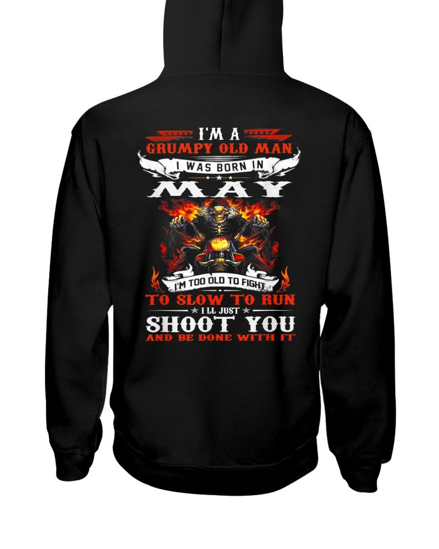 I'm a grumpy old man I was born in May Hooded Sweatshirt
