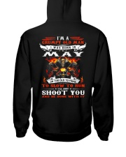 I'm a grumpy old man I was born in May Hooded Sweatshirt back