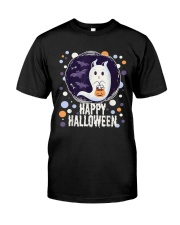 Happy Halloween Ghost Cat Bat Pumpkin T-Shirt Classic T-Shirt thumbnail