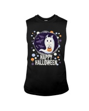Happy Halloween Ghost Cat Bat Pumpkin T-Shirt Sleeveless Tee thumbnail