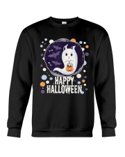 Happy Halloween Ghost Cat Bat Pumpkin T-Shirt Crewneck Sweatshirt thumbnail
