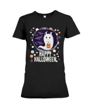 Happy Halloween Ghost Cat Bat Pumpkin T-Shirt Premium Fit Ladies Tee thumbnail