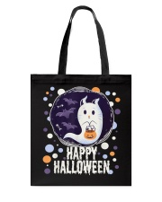 Happy Halloween Ghost Cat Bat Pumpkin T-Shirt Tote Bag thumbnail