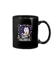 Happy Halloween Ghost Cat Bat Pumpkin T-Shirt Mug thumbnail