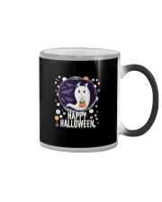 Happy Halloween Ghost Cat Bat Pumpkin T-Shirt Color Changing Mug thumbnail