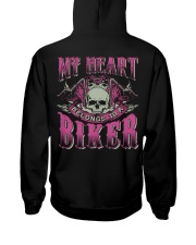 Motorcycle Wife Biker Hooded Sweatshirt back