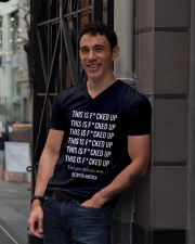 Beto O'Rourke This is Fucked Up President Gift V-Neck T-Shirt lifestyle-mens-vneck-front-1