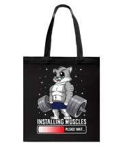 Funny Cat Weightlifting Gym Fitness Workout Lover  Tote Bag thumbnail