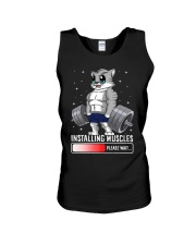 Funny Cat Weightlifting Gym Fitness Workout Lover  Unisex Tank thumbnail