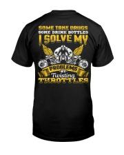 Solve My Problems Twisting Throttles Biker Classic T-Shirt thumbnail