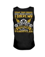 Solve My Problems Twisting Throttles Biker Unisex Tank thumbnail