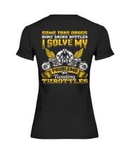 Solve My Problems Twisting Throttles Biker Premium Fit Ladies Tee thumbnail