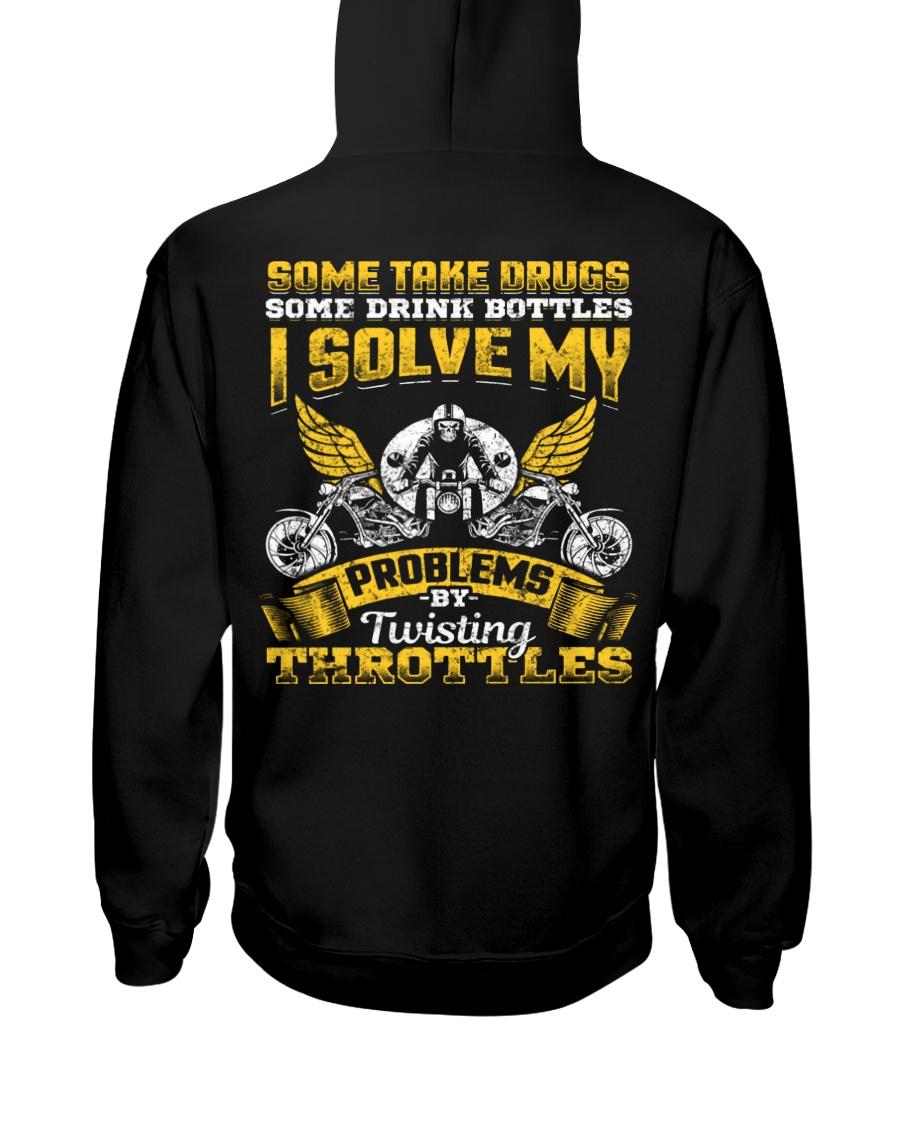 Solve My Problems Twisting Throttles Biker Hooded Sweatshirt