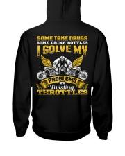 Solve My Problems Twisting Throttles Biker Hooded Sweatshirt back