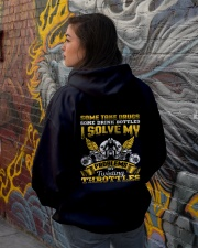 Solve My Problems Twisting Throttles Biker Hooded Sweatshirt lifestyle-unisex-hoodie-back-1