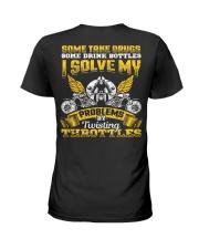 Solve My Problems Twisting Throttles Biker Ladies T-Shirt thumbnail