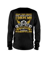 Solve My Problems Twisting Throttles Biker Long Sleeve Tee thumbnail