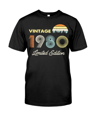 Vintage 1980 Made in 1980 40th birthday Shirt