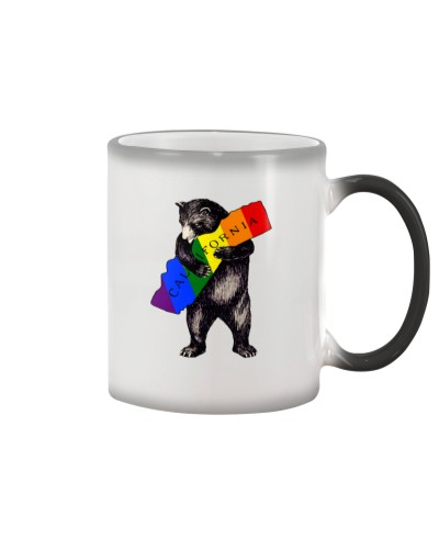 Vintage Rainbow Love California Bear
