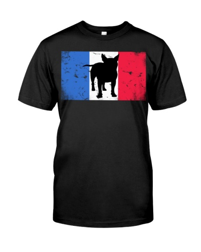French Bulldog Gift Distressed Tricolore Flag