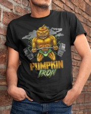 Halloween Gym Workout Pumpkin Iron Motivation Men  Classic T-Shirt apparel-classic-tshirt-lifestyle-26