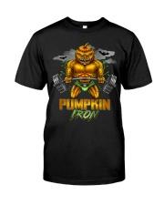 Halloween Gym Workout Pumpkin Iron Motivation Men  Classic T-Shirt front