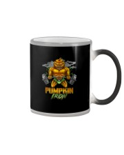 Halloween Gym Workout Pumpkin Iron Motivation Men  Color Changing Mug thumbnail