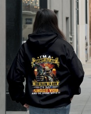 I'm A Grumpy Old Man Too Old To Fight Hooded Sweatshirt lifestyle-unisex-hoodie-back-2