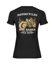 Motorcycles Hot Babes Cold Beers Premium Fit Ladies Tee thumbnail