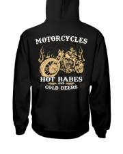Motorcycles Hot Babes Cold Beers Hooded Sweatshirt back