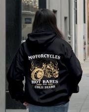 Motorcycles Hot Babes Cold Beers Hooded Sweatshirt lifestyle-unisex-hoodie-back-2