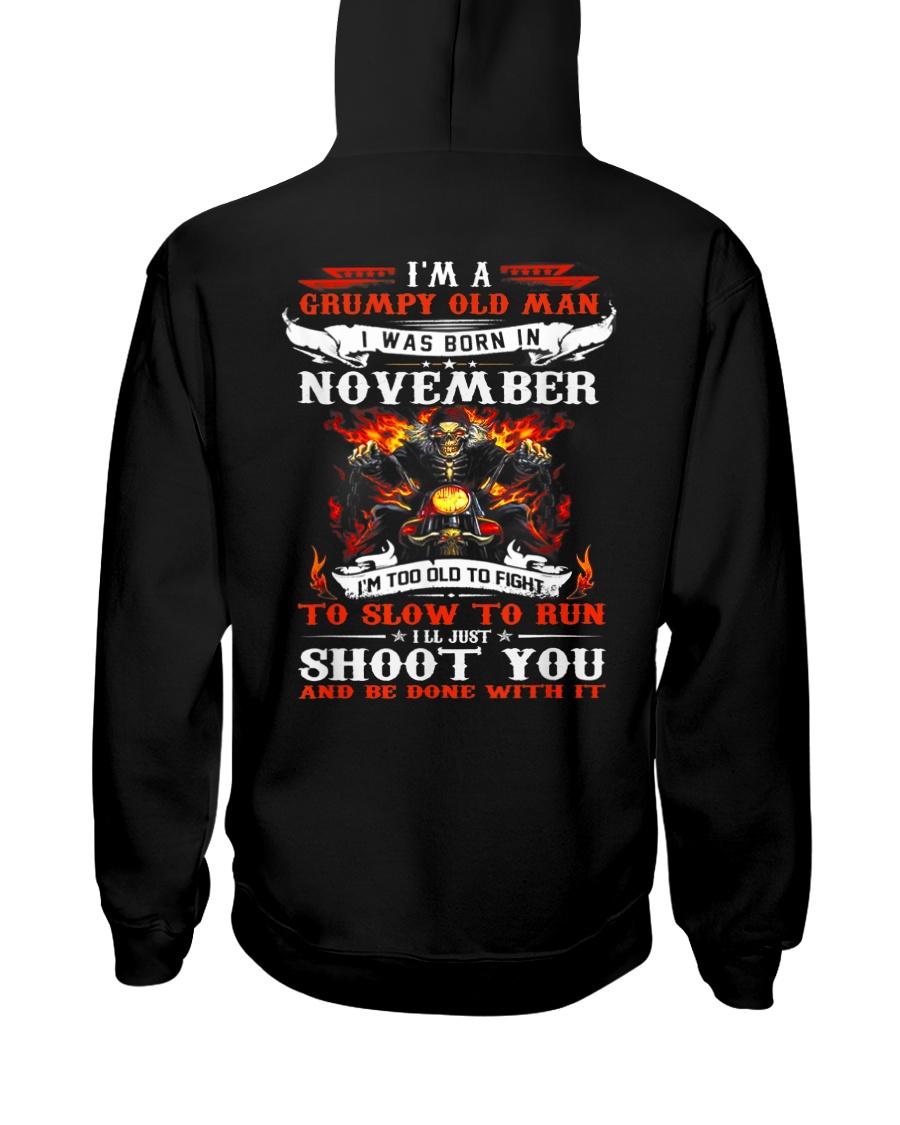 I'm a grumpy old man I was born in November Hooded Sweatshirt