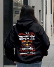 I'm a grumpy old man I was born in November Hooded Sweatshirt lifestyle-unisex-hoodie-back-2