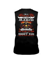 I'm a grumpy old man I was born in March Sleeveless Tee thumbnail