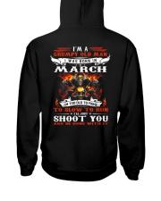 I'm a grumpy old man I was born in March Hooded Sweatshirt back