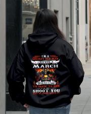 I'm a grumpy old man I was born in March Hooded Sweatshirt lifestyle-unisex-hoodie-back-2