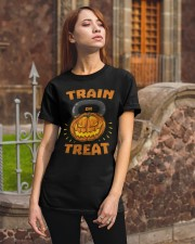 Train Or Treat Pumpkin Kettlebell Halloween Weight Classic T-Shirt apparel-classic-tshirt-lifestyle-06
