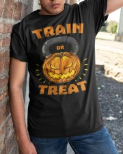 Train Or Treat Pumpkin Kettlebell Halloween Weight Classic T-Shirt apparel-classic-tshirt-lifestyle-27