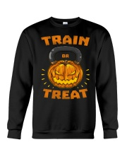 Train Or Treat Pumpkin Kettlebell Halloween Weight Crewneck Sweatshirt thumbnail