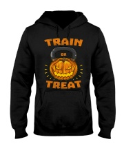 Train Or Treat Pumpkin Kettlebell Halloween Weight Hooded Sweatshirt thumbnail