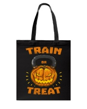 Train Or Treat Pumpkin Kettlebell Halloween Weight Tote Bag thumbnail