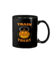 Train Or Treat Pumpkin Kettlebell Halloween Weight Mug thumbnail